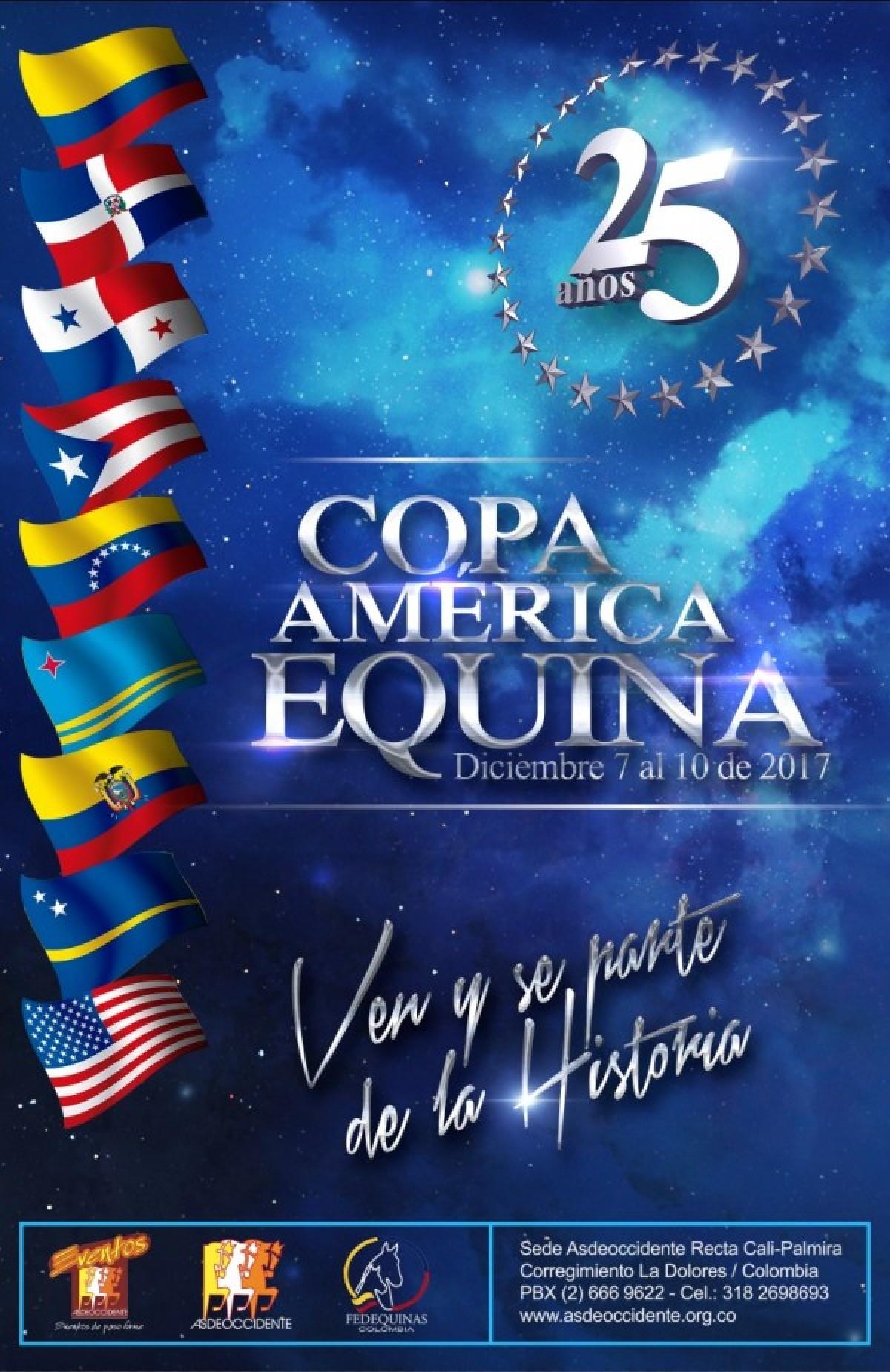 TRANSMISIÓN 25a Copa América Equina Del 7 Al 10 De Diciembre