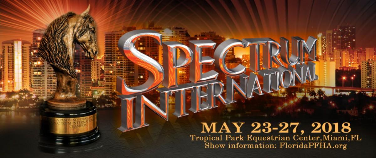 TRANSMISIÓN Spectrum Internacional Del 23 Al 27 de Mayo del 2018