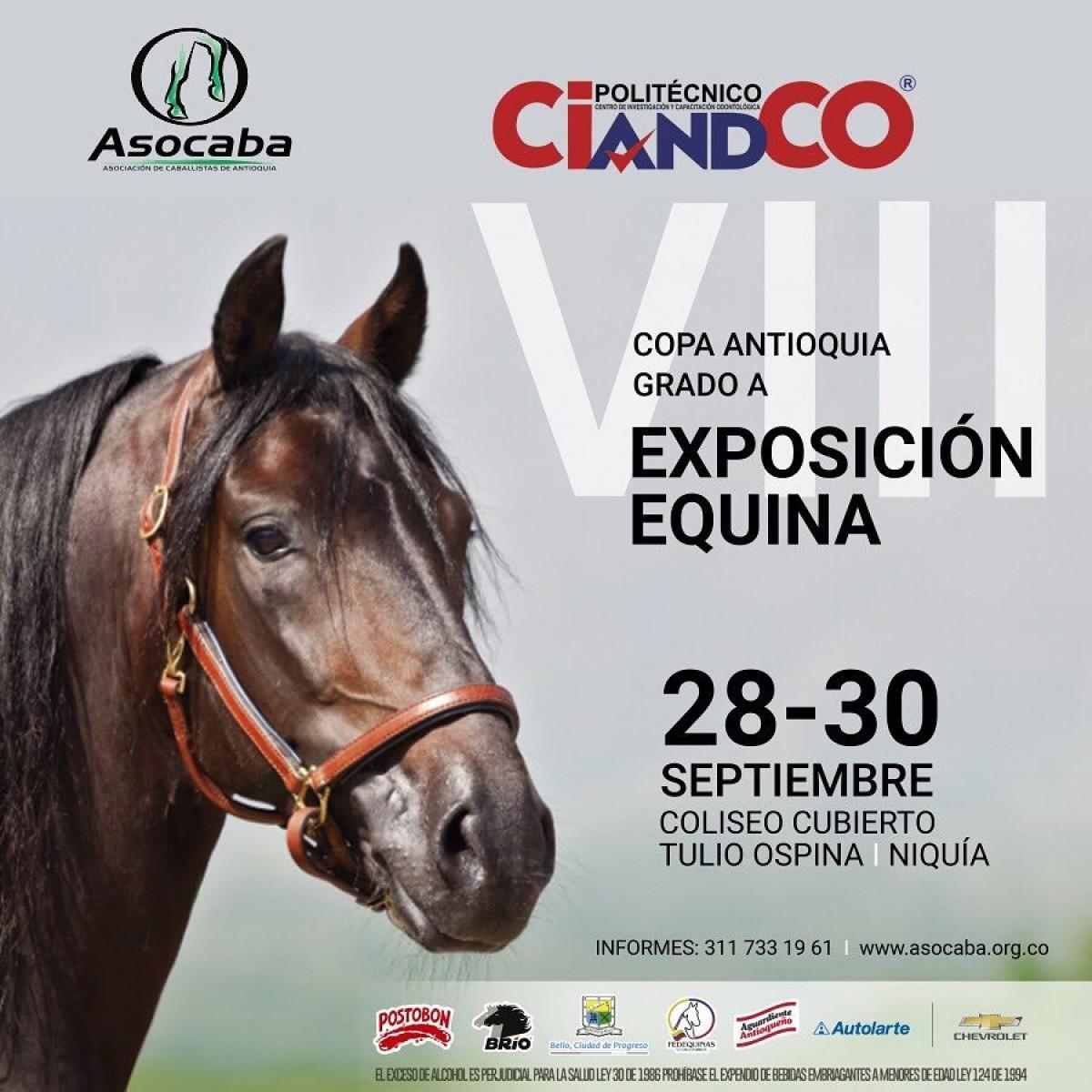 TRANSMISIÓN VIII Exposición Equina Copa Antioquia Grado A, Del 28 al 30 De Sept