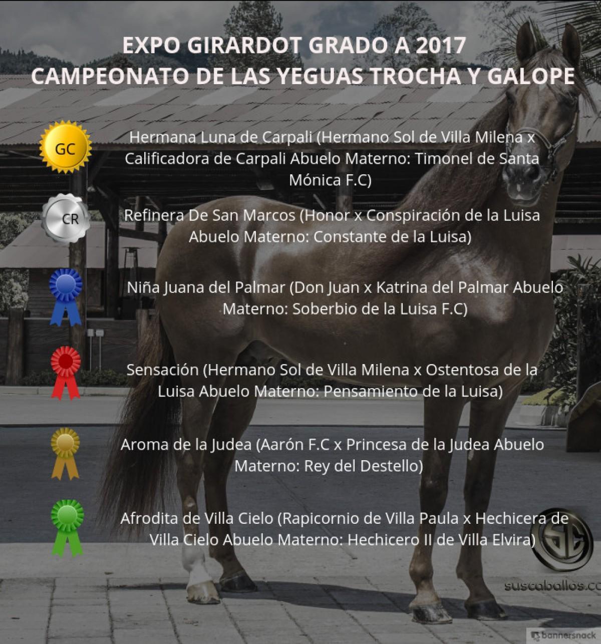 VÍDEO: Hermana Luna Campeona, Refinera Reservada, Trocha y Galope, Expo Girardot