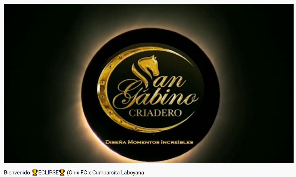 NOTICIA! San Gabino Criadero Nuevo propietario de  ECLIPSE