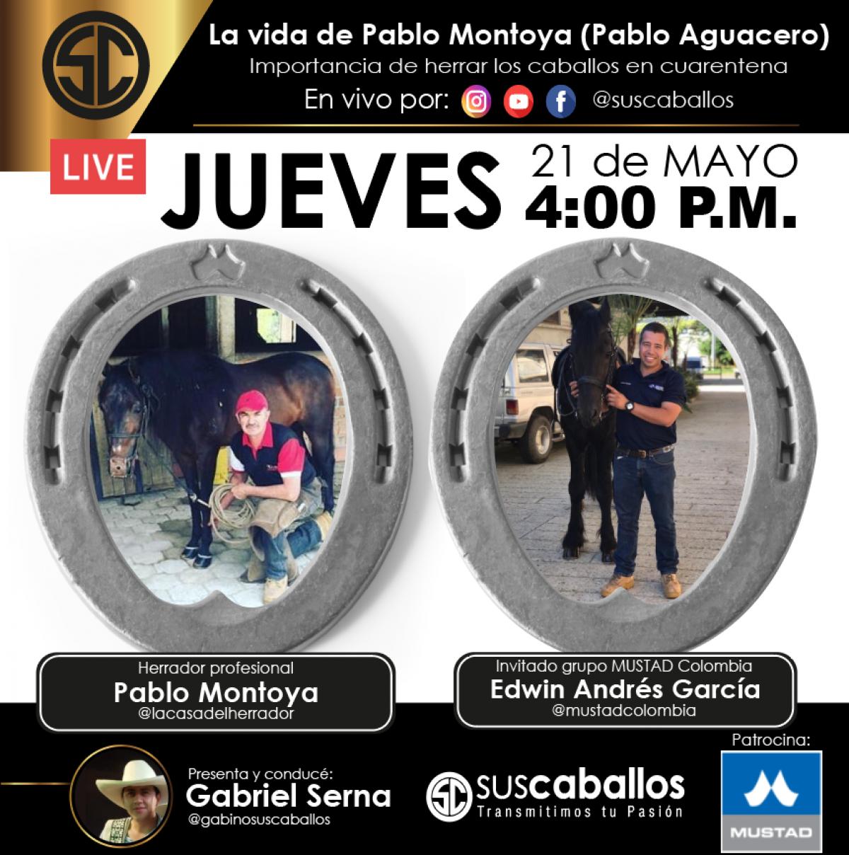 La vida de Pablo Montoya (Pablo Aguacero) y la importancia de herrar los caballos en cuarentena