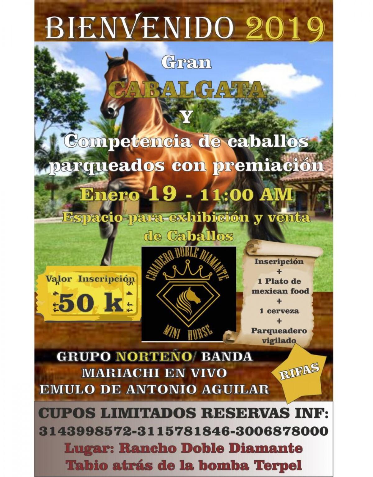 Cabalgata y competencia Caballos Parqueados, 19 de Enero
