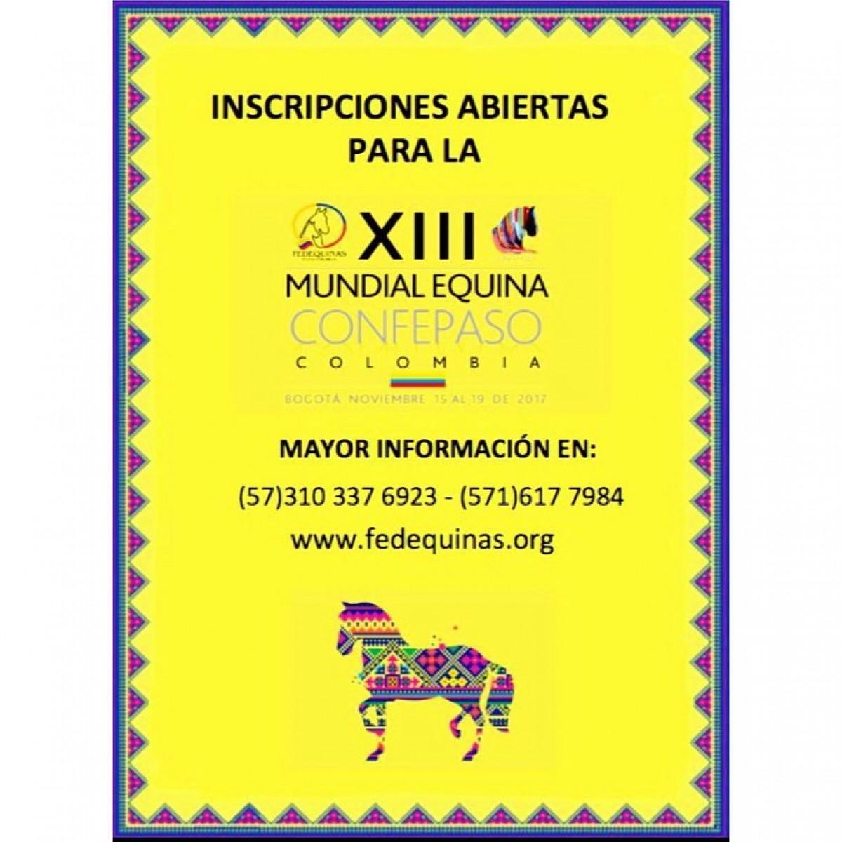 Ya Están Las Inscripciones Abiertas Para La XIII Mundial De Caballos De Paso!!