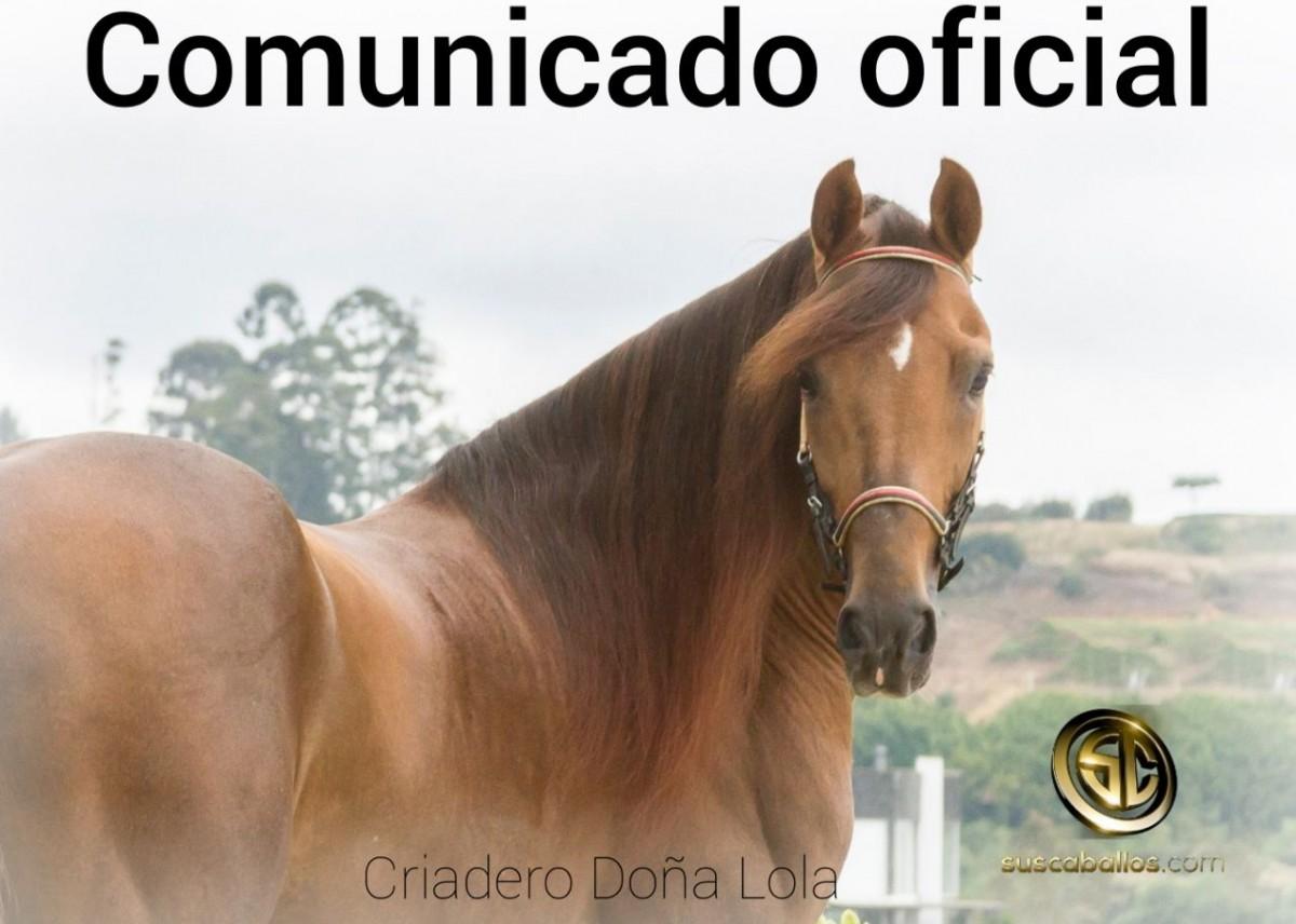 Comunicado Oficial Criadero Doña Lola