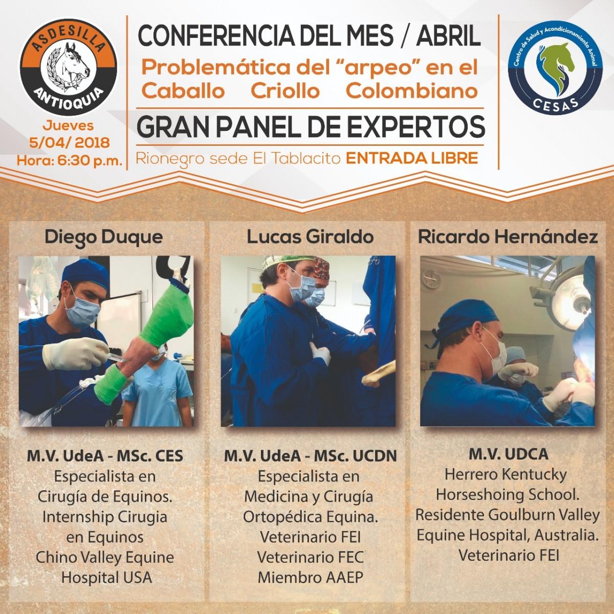Conferencia Problemática Del Arpeo En El CCC, 5 DE Abril En Asdesilla