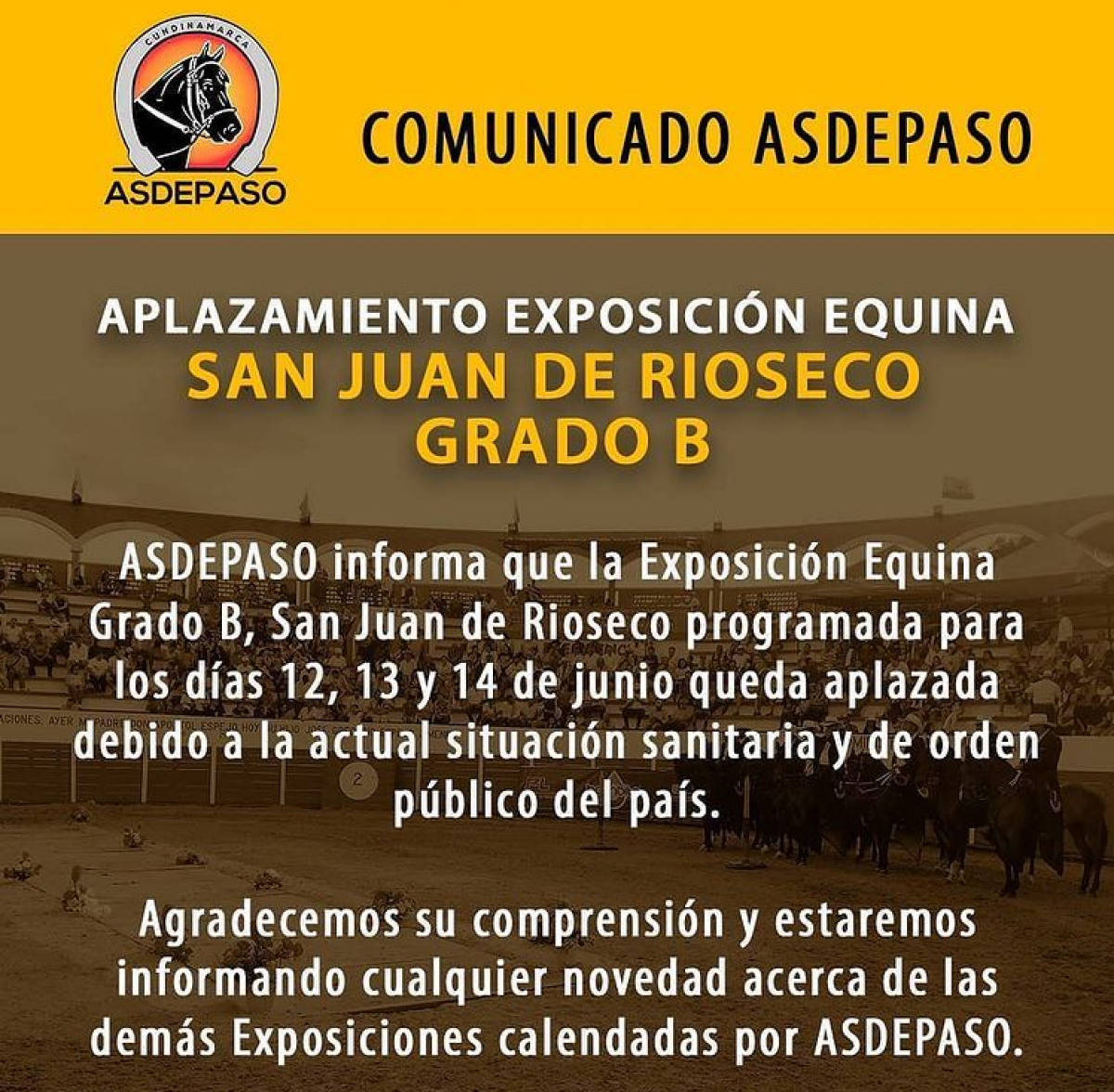 COMUNICADO ASDEPASO