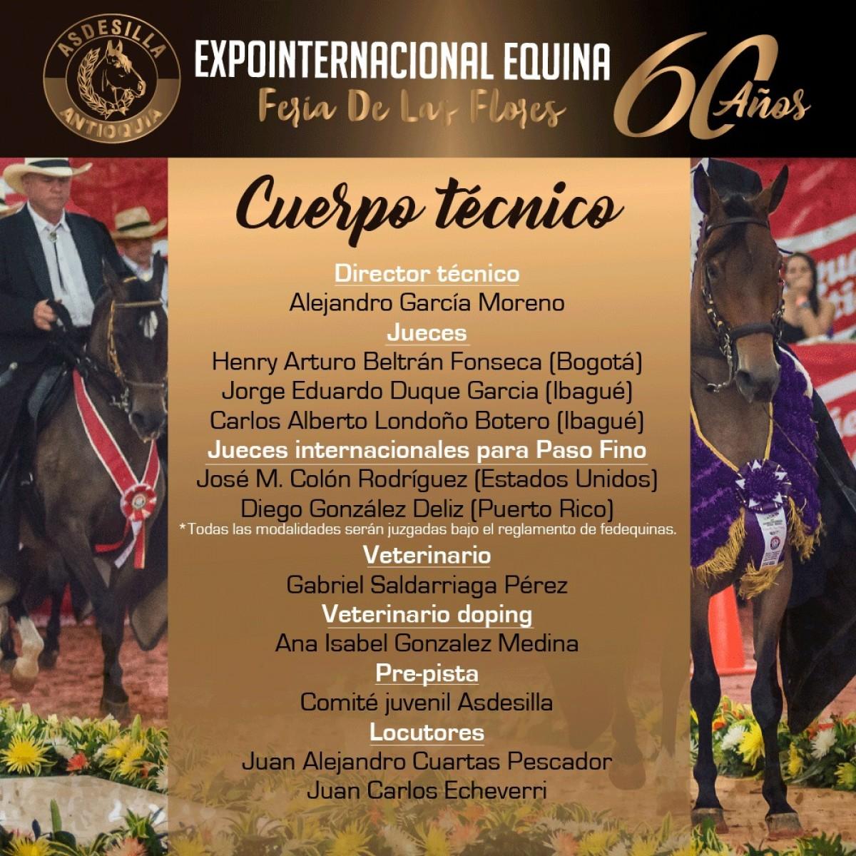 Cuerpo Técnico 60a Feria de Flores, Contará Con Jueces Internacionales