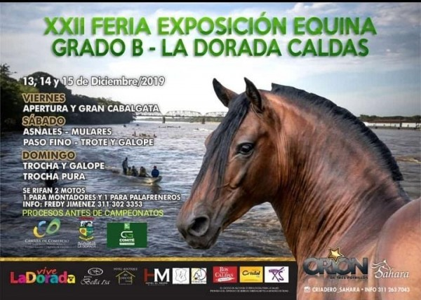 http://suscaballos.com/TRANSMISIÓN XXII Exposición Equina Grado B La Dorada- Caldas 14 y 15 Diciembre