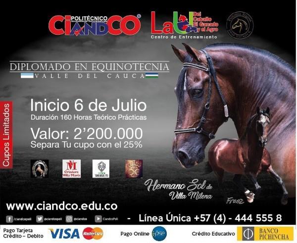 https://suscaballos.com/Diplomado en Equinotecnia En El Valle del Cauca, 6 De Julio 2018