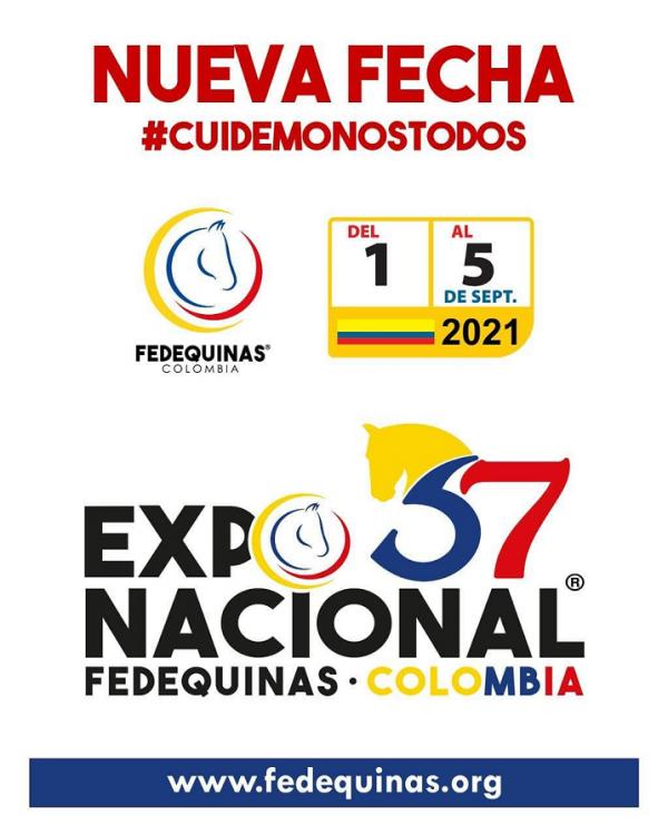 https://suscaballos.com/37 Exposición Nacional, la cual se realizará del 1 al 5 de septiembre de 2021