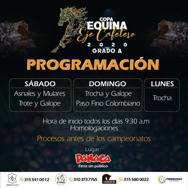 http://suscaballos.com/Copa Equina Eje Cafetero 2020