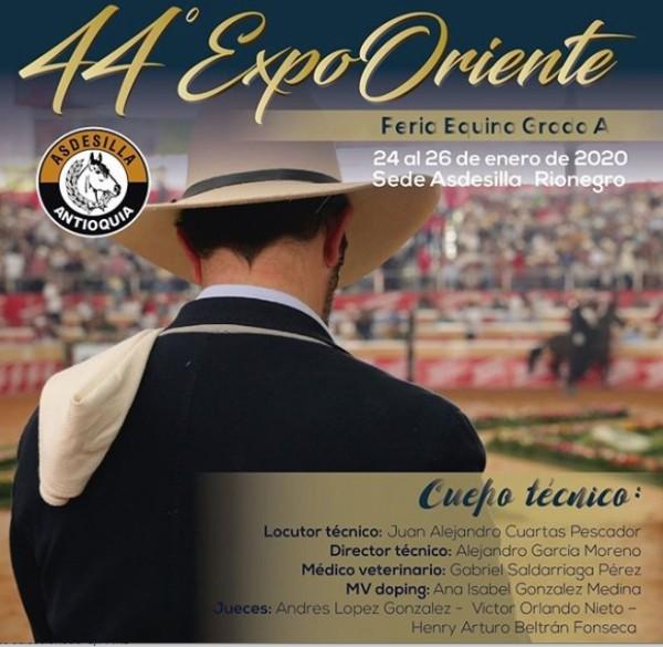 """http://suscaballos.com/ 44 ExpoOriente - Feria Equina Grado """"A"""" del 24 al 26 de enero Transmisión en vivo HOY por www.suscaballos.com"""