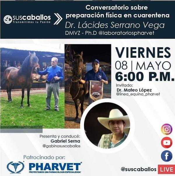 http://suscaballos.com/Conversatorio sobre preparación física en cuarentena