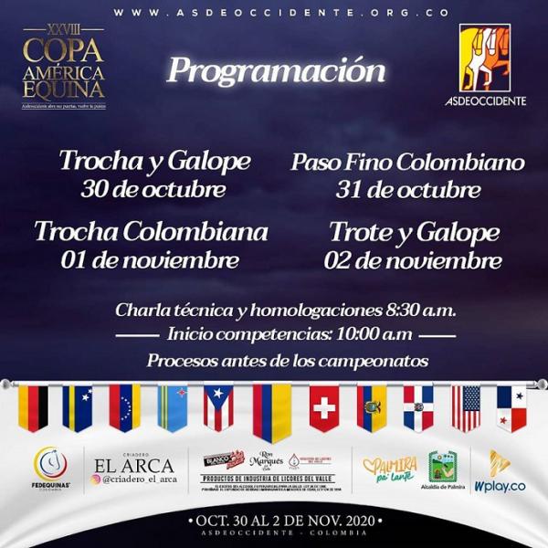 http://suscaballos.com/Programación Copa América 2020