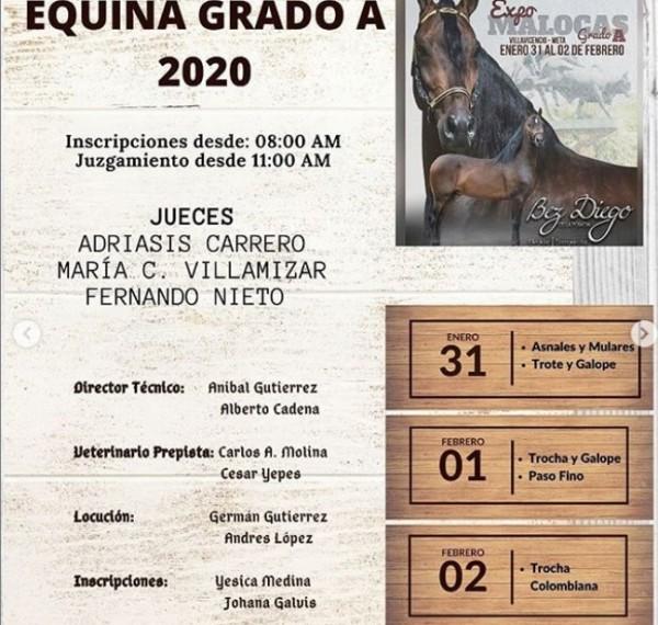 http://suscaballos.com/ExpoMalocas grado A transmisión en vivo por www.suscaballos.com - Programación