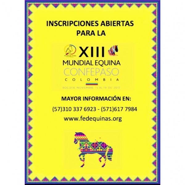 http://suscaballos.com/Ya Están Las Inscripciones Abiertas Para La XIII Mundial De Caballos De Paso!!