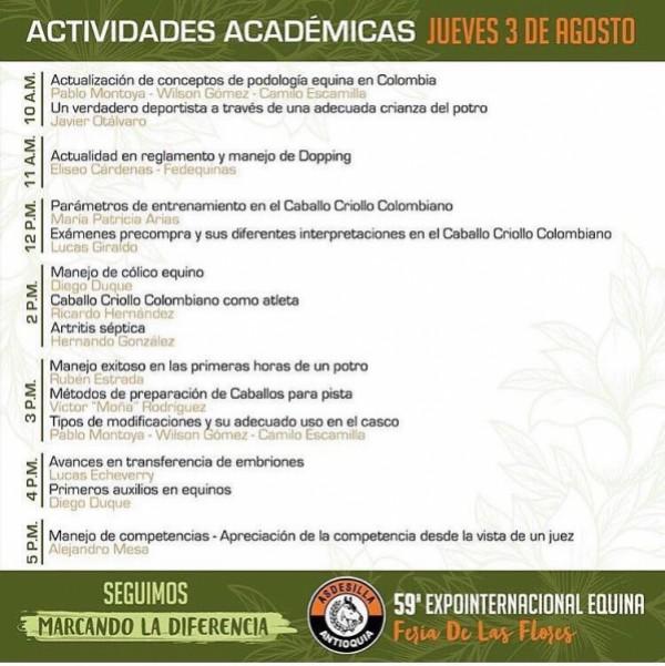 http://suscaballos.com/No Te Pierdas La Jornada Académica De La Feria de Flores 3 de Agosto!!
