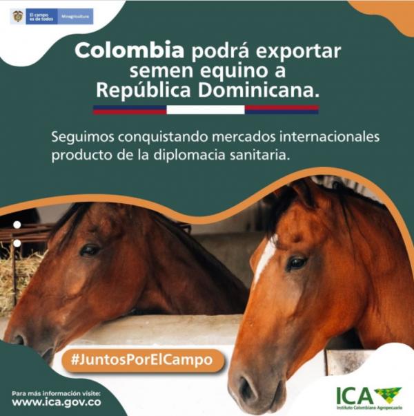https://suscaballos.com/COLOMBIA PODRA EXPORTAR SEMEN EQUINO A REPUBLICA DOMINICANA