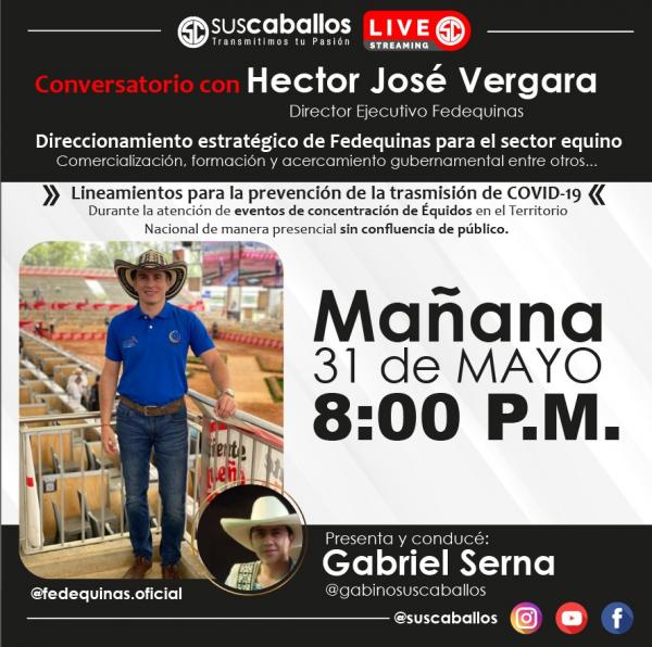 http://suscaballos.com/ Conversatorio con Hector José Vergara Director Ejecutivo Fedequinas sobre: ✔️Direccionamiento estratégico de@fedequinas.oficialpara el sector equino