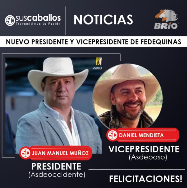http://suscaballos.com/NUEVO PRESIDENTE Y VICEPRESIDENTE DE FEDEQUINAS