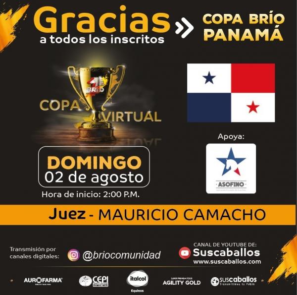 http://www.suscaballos.com/Transmisión COPA BRÍO PANAMÁ domingo 2 de agosto
