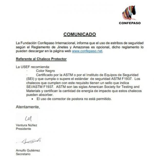 """http://suscaballos.com/Comunicado-Mundial de Jinetes y Amazonas """"Felix Santiago Oliver""""- Colombia 2020"""