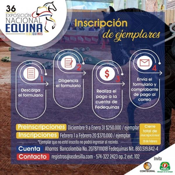 http://www.suscaballos.com/Ya Pueden Preinscribir A Sus Ejemplar Para La Nacional Equina 2020