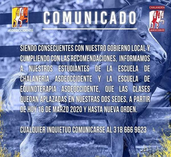 http://suscaballos.com/Comunicado Escuela de Chalaneria y Equinoterapia