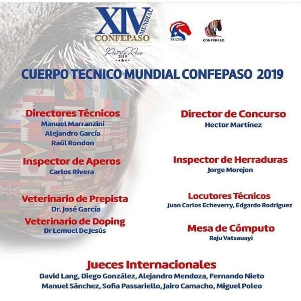 http://www.suscaballos.com/Nómina Para La Mundial Equina, Puerto Rico 2019
