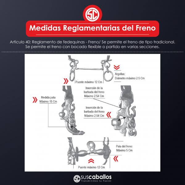 http://suscaballos.com/Medidas reglamentarias del Freno