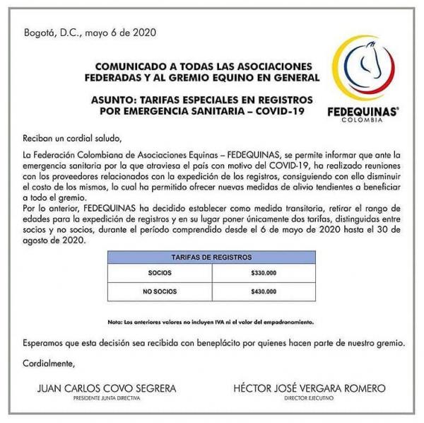 http://suscaballos.com/Comunicado Oficial FEDEQUINAS