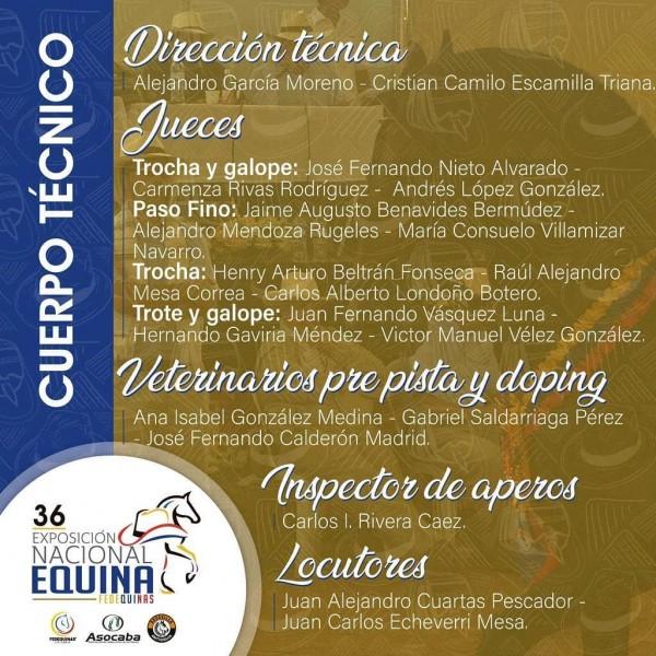 http://suscaballos.com/¡Este será el cuerpo técnico de la 36 Exposición Nacional Equina 2020!