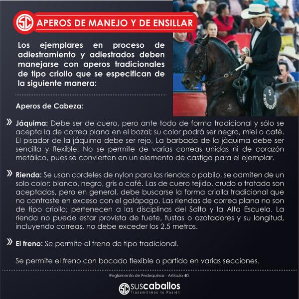 http://www.suscaballos.com/APEROS DE MANEJO Y DE ENSILLAR - Reglamento de Fedequinas